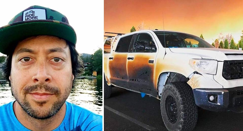 Allyn Pierce drove through the wildfires to help his patients (Gofundme)