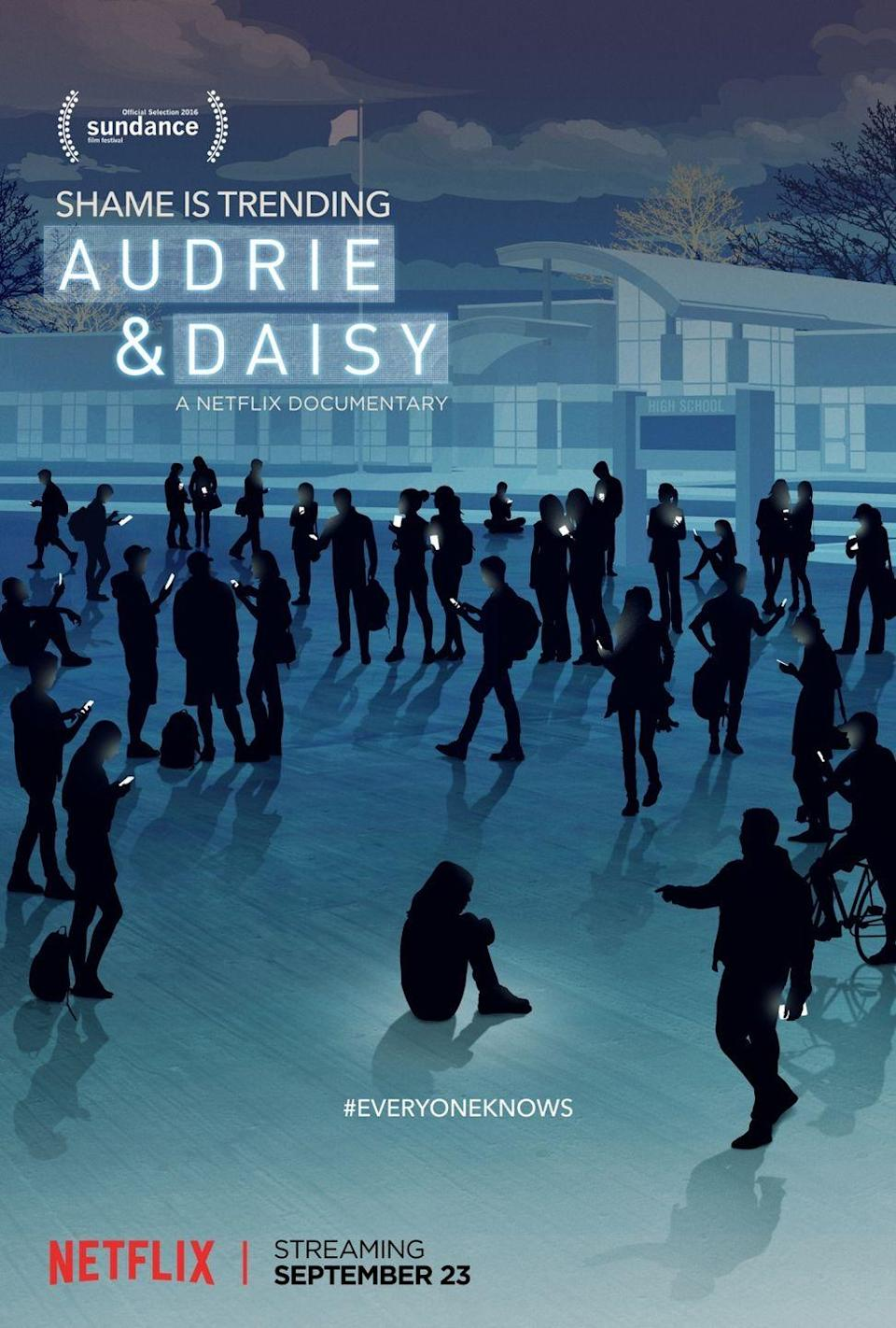 """<p>When two teen girls, Audrie Pott and Daisy Coleman are raped while unconscious, the people in the towns they live in are more concerned with protecting the boys who abused them instead of getting the girls justice. </p><p>Both endure online harassment and bullying. As a result, one of them commits suicide. In the documentary, Audrie Pott and her family describe what they went through, and how the justice system didn't do enough.</p><p><a class=""""link rapid-noclick-resp"""" href=""""https://www.netflix.com/title/80097321"""" rel=""""nofollow noopener"""" target=""""_blank"""" data-ylk=""""slk:Watch Now"""">Watch Now</a></p>"""