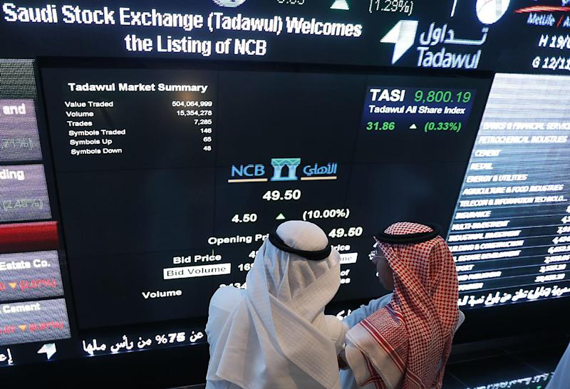 The Saudi Tadawul All-Shares Index, the largest in the Arab world, dipped 3.3% to close on 8,119.08 points, a 12-month low