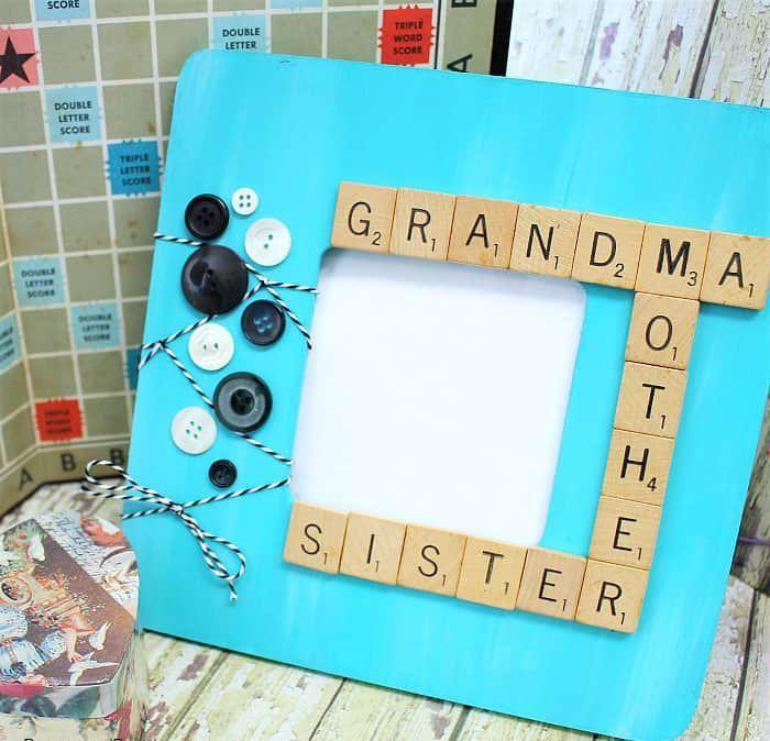 "<p>The best thing about a Scrabble-tile frame is that you can personalize it however you want: Include Mom's name, the kids' names, or even hobbies she likes to do.</p><p><em><a href=""https://buggyandbuddy.com/diy-scrabble-tiles-picture-frame-craft-for-mothers-day/"" rel=""nofollow noopener"" target=""_blank"" data-ylk=""slk:Get the tutorial at Buggy and Buddy »"" class=""link rapid-noclick-resp"">Get the tutorial at Buggy and Buddy »</a></em></p>"