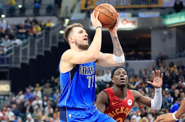 Dallas Mavericks youngster Luka Doncic was a unanimous pick on the NBA's Rookie team of the year for 2018-2019 (AFP Photo/ANDY LYONS)