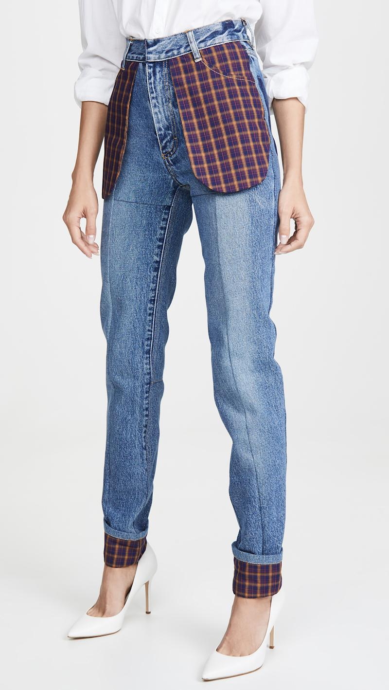 Ksenia Schnaider Slim Jeans with Celled Pockets