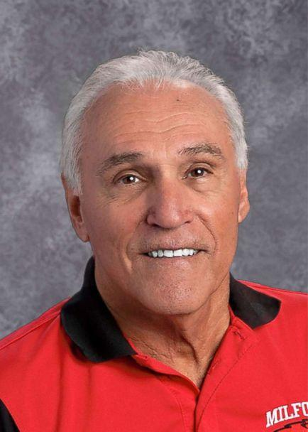 PHOTO: Dennis 'Jack' Candini, 71, taught for 32 years at Milford High School in Milford, Massachusetts, before retiring in 2004 and has been substitute teaching since. (Milford Public Schools )