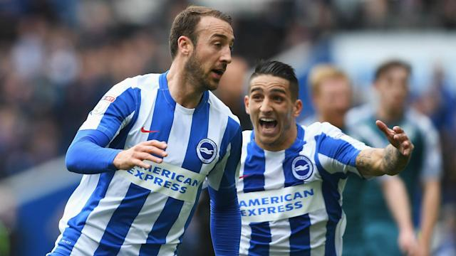 Huddersfield Town failed to beat Derby County, meaning Brighton and Hove Albion will play Premier League football next season.