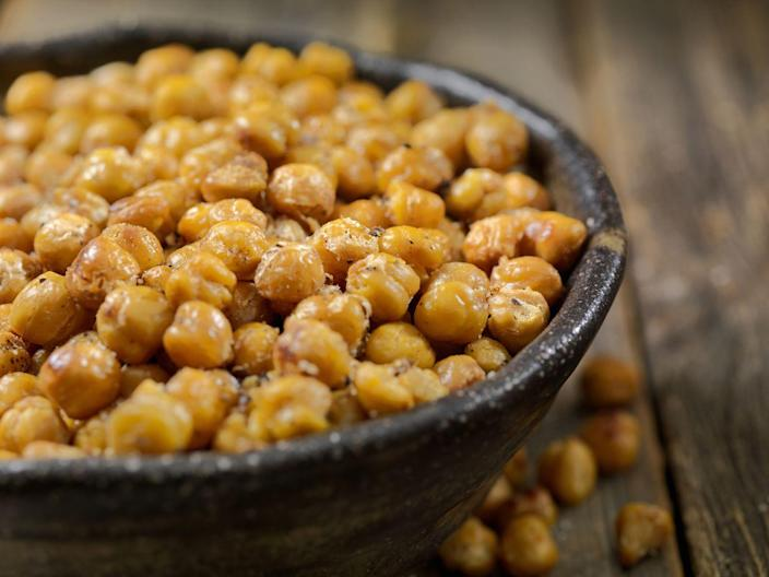 <p>You're likely getting croutons because you want that crunch. <strong>Opt for crispy chickpeas instead which pack a ton of plant-based protein and fiber</strong>, but also taste delicious.</p>