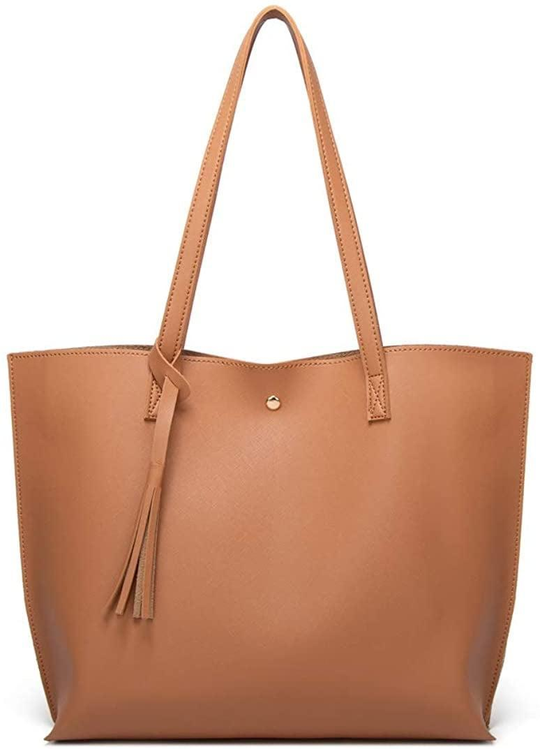 <p>This <span>Soft Faux-Leather Tote Shoulder Bag</span> ($16) is the perfect work bag.</p>
