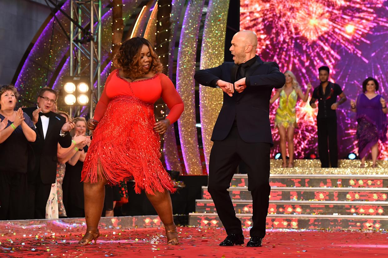 Chizzy Akudolu and Simon Rimmer at the launch of Strictly Come Dancing 2017 at Broadcasting House in London. PRESS ASSOCIATION Photo. Picture date: Monday August 28th, 2017