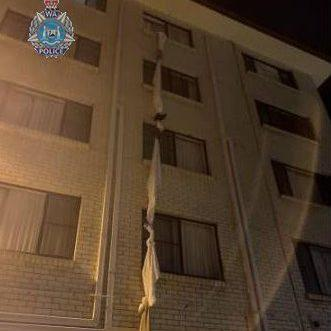 A 39-year-old man was arrested and charged after he fled his hotel room - Western Australia Police Force