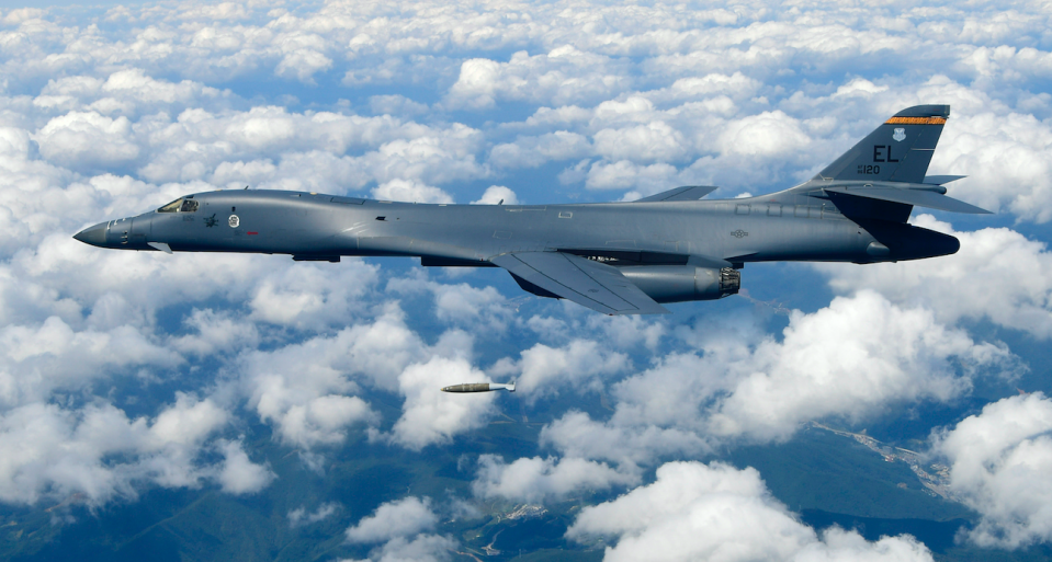 <em>Two B-1B supersonic bombers took part in a another drill with South Korea (PA)</em>