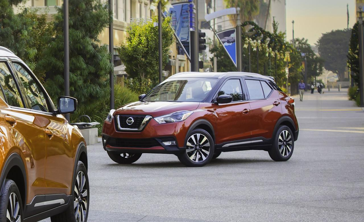 "<p>Nissan's job replacing <a rel=""nofollow"" href=""https://www.caranddriver.com/nissan/juke"">the Juke</a> as the smallest crossover in its lineup for 2018 was tough: The Juke was cheap, interesting-looking (no, really, it was funky), and fun to drive thanks to its powerful turbocharged engine. It left behind some awfully quirky shoes to fill. So, does its successor, the Kicks, fill them? Yes, albeit with less quirkiness and an even more in-your-face name. Although we don't find the Kicks' styling nearly as charming as the Juke's, Nissan is successfully recasting the new crossover in a more value-conscious direction-and completely nails that target.  </p><p>Swipe through for 10 reasons why we put the Kicks <a rel=""nofollow"" href=""https://www.caranddriver.com/shopping-advice/a25751166/best-trucks-suvs-vans-2019/"">on our 2019 Editor's Choice list</a>-and why you should put it on your short list for <a rel=""nofollow"" href=""https://www.caranddriver.com/features/g15383346/best-subcompact-suv-ranked/"">affordable small SUVs</a>.</p>"