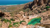 A fresh water spring on the mountain of Homhil on the Yemeni island of Socotra, a site of global importance for biodiversity