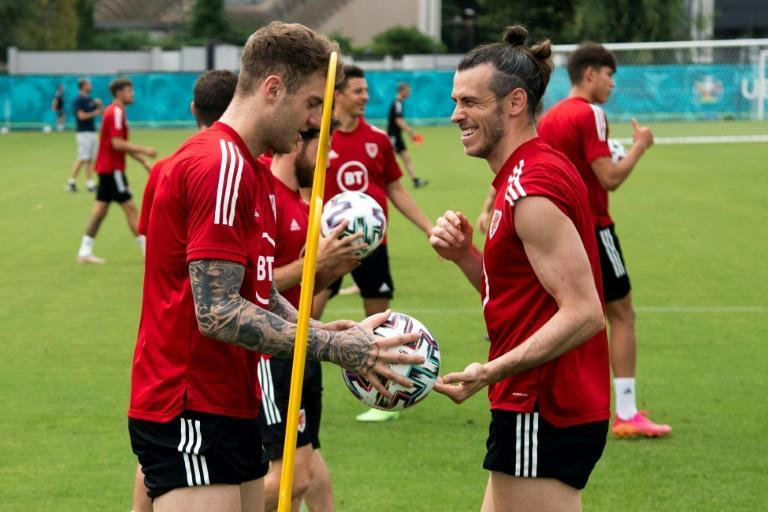 Joe Rodon and Gareth Bale trained with the rest of the Wales team in Rome on Thursday before flying to Amsterdam