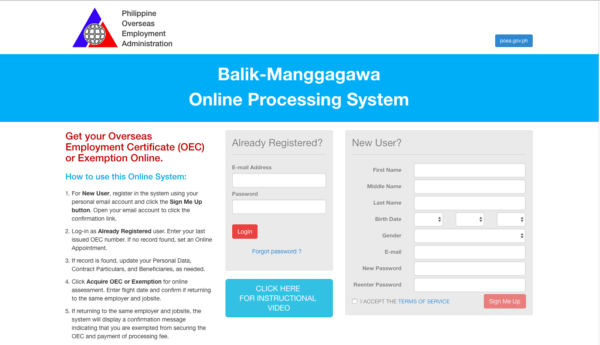 Balikbayan Tips and Travel Checklist - Get an OEC Online