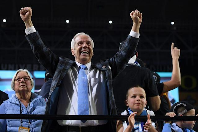 Roy Williams won his third national championship in 13 seasons with a 71-65 victory over Gonzaga. (Getty)