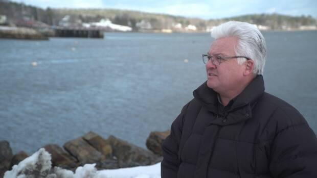 3D Wave Design co-founder Barry Stevens looks out over Mahone Bay last year.