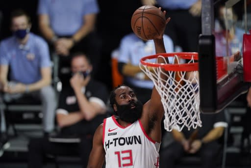 Rockets run away from No. 1 seed Lakers, take Game 1 112-97