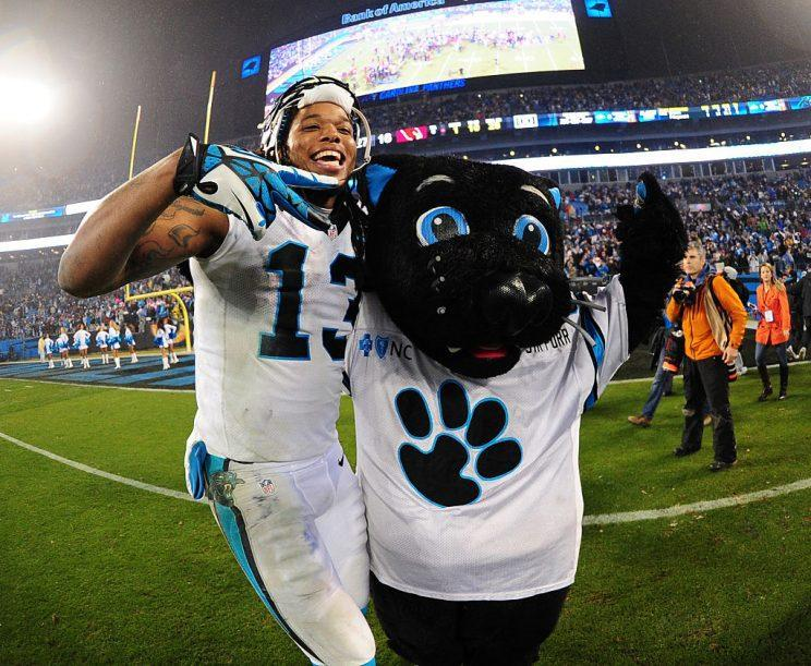 Kelvin Benjamin, back in our fantasy lives. (Photo by Scott Cunningham/Getty Images)