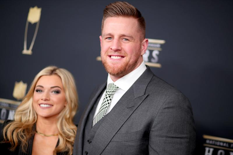 MINNEAPOLIS, MN - FEBRUARY 03: Kealia Ohai and NFL Player J. J. Watt attend the NFL Honors at University of Minnesota on February 3, 2018 in Minneapolis, Minnesota. (Photo by Christopher Polk/Getty Images)