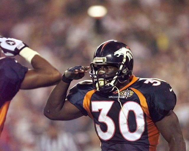 Terrell Davis won Super Bowl XXXII MVP, helping the Broncos win their first championship. (AP)