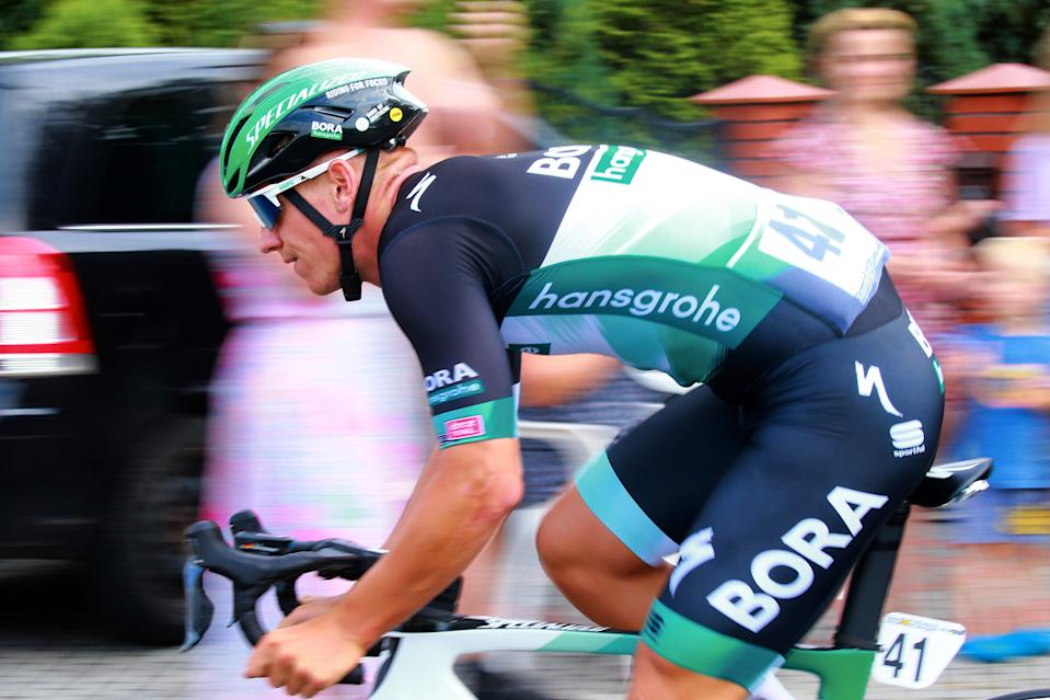 Pascal Ackermann in the peloton in early part of 151.5km stage 2