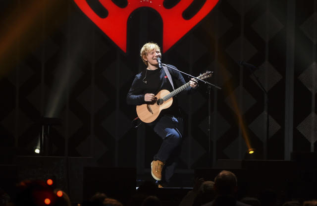 Ed Sheeran performs last month at Z100's iHeartRadio Jingle Ball at Madison Square Garden in New York. (Photo: Evan Agostini/Invision/AP, File)
