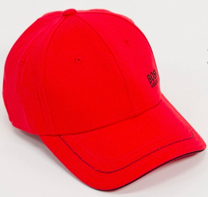 Boss Athleisure cap in red, S$37.99 (was S$53.99). PHOTO: ASOS