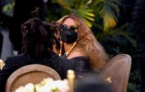 Beyonce and her husband Jay-Z made a surprise appearance at the 63rd Grammys, where she made record-setting history