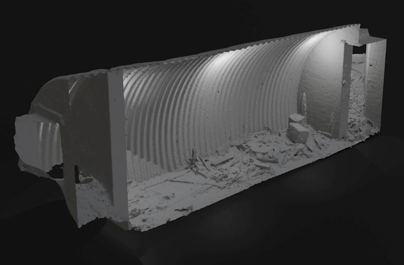 A graphic representation of the Craigielands Auxiliary Unit Bunker. (SWNS)