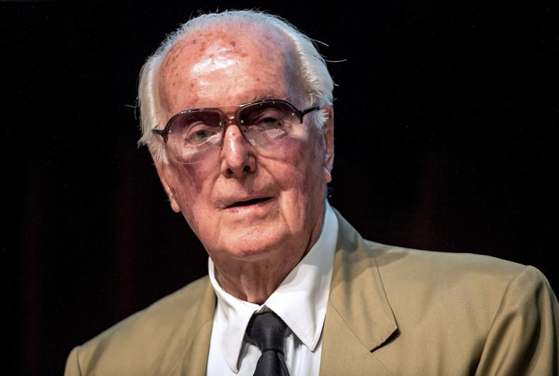 French fashion designer Hubert de Givenchy, seen last year, died on Saturday.
