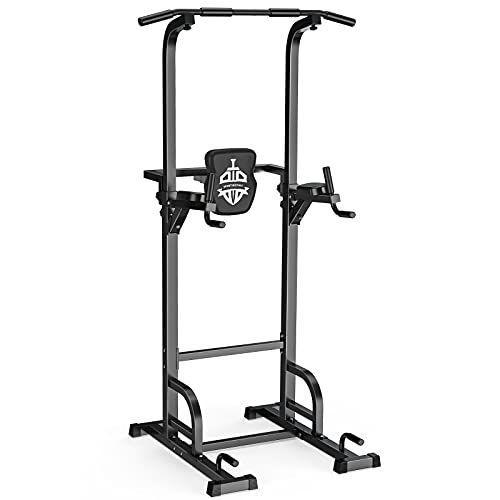"""<p><strong>Sportsroyals</strong></p><p>amazon.com</p><p><strong>$152.13</strong></p><p><a href=""""https://www.amazon.com/dp/B07SM8VJ6P?tag=syn-yahoo-20&ascsubtag=%5Bartid%7C2139.g.36353831%5Bsrc%7Cyahoo-us"""" rel=""""nofollow noopener"""" target=""""_blank"""" data-ylk=""""slk:Shop Now"""" class=""""link rapid-noclick-resp"""">Shop Now</a></p><p>This Sportsroyals Power Tower is a number 1 best seller on Amazon. It comes with a 14-gauge heavy square steel frame that's made with a scratch-resistant coat finish. It also has a weight capacity of 400 pounds. <br></p>"""