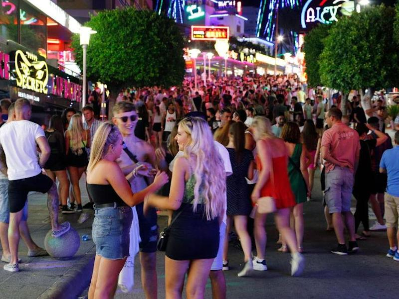 Tourists visit the popular Punta Ballena strip in Magaluf, Spain: Getty Images