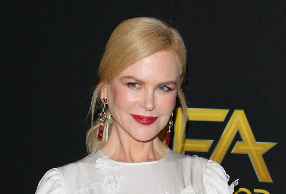 """Nicole Kidman admits she is out of her """"comfort zone"""" playing Lucille Ball for upcoming movie."""