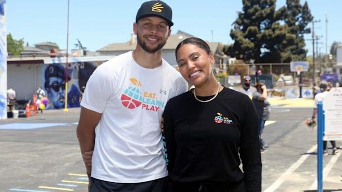 Stephen And Ayesha Curry's Eat. Learn. Play., Along With Partners KABOOM!, The CarMax Foundation, And Oakland Unified School District, Unveiled An Amazing New Playground, Multi-Sport Court, And Garden At Franklin Elementary School On Saturday, June 12