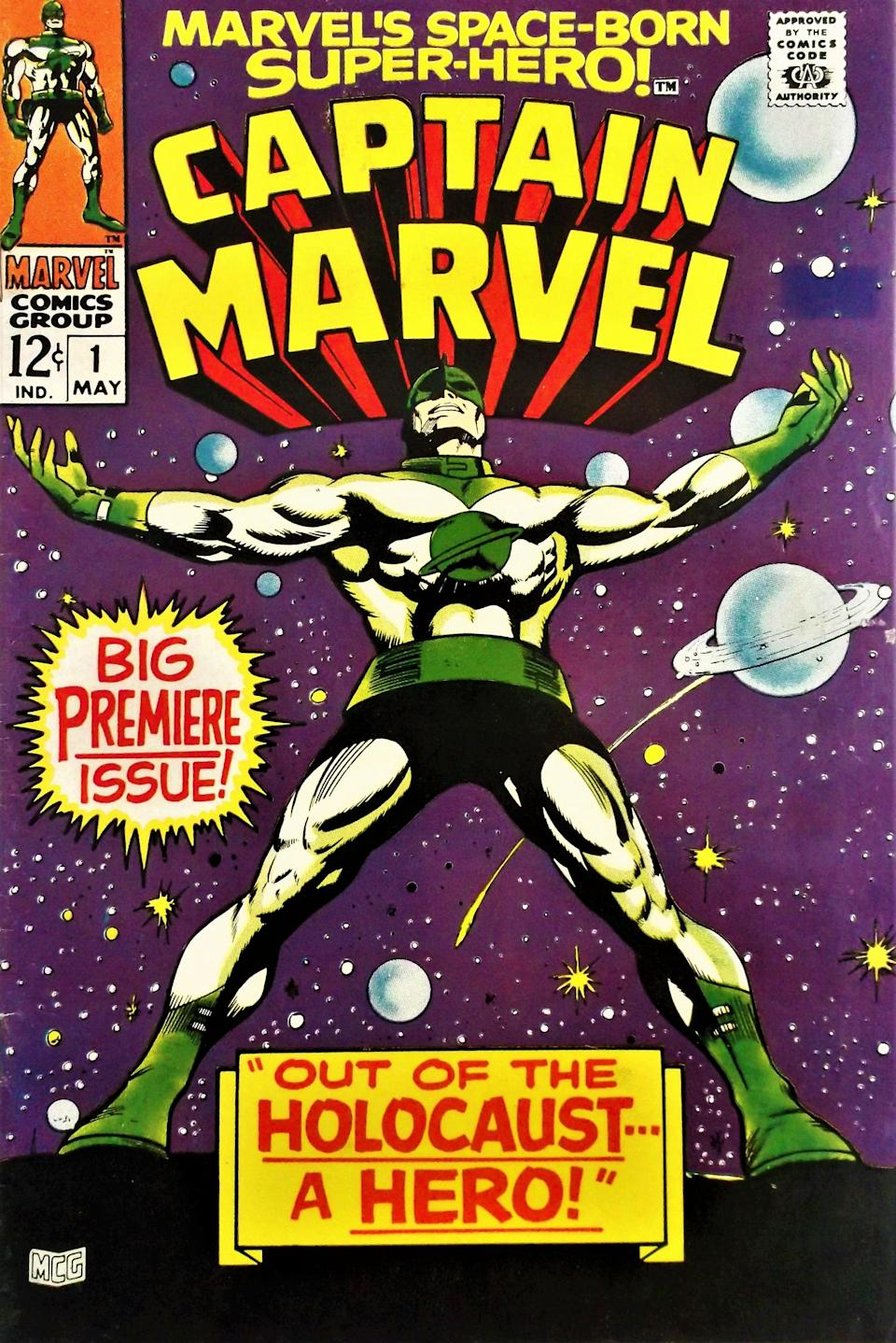 Marvel Comics' Captain Marvel was introduced in 1968. (Photo: Marvel)