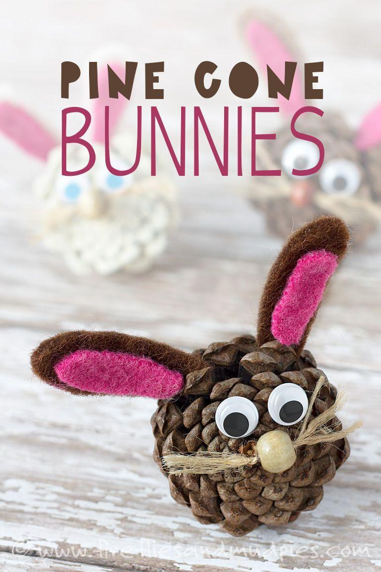 """<p>Give your backyard pinecones a brand new life as the cutest little Easter bunnies. </p><p><strong>Get the tutorial at <a href=""""http://www.firefliesandmudpies.com/2015/03/03/pine-cone-bunnies/"""" rel=""""nofollow noopener"""" target=""""_blank"""" data-ylk=""""slk:Fireflies and Mud Pies"""" class=""""link rapid-noclick-resp"""">Fireflies and Mud Pies</a>.</strong> </p>"""