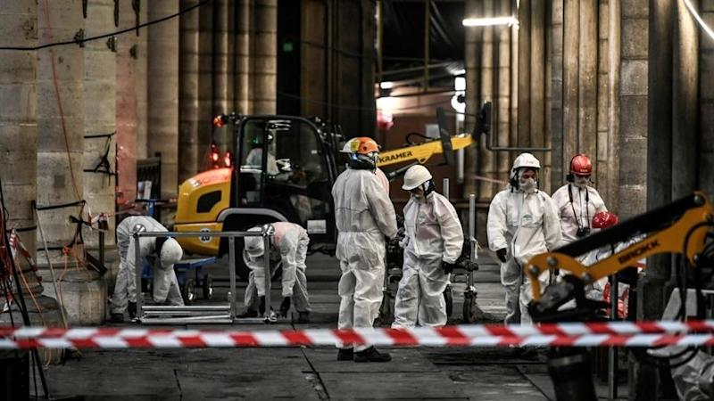 Notre-Dame area sealed off in Paris as workers prepare to remove toxic lead