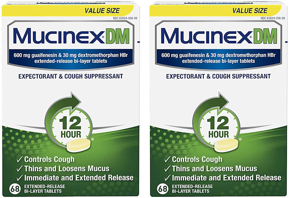 Mucinex DM Expectorant and Cough Suppressant 12-Hour Relief Tablets (Photo: Amazon)