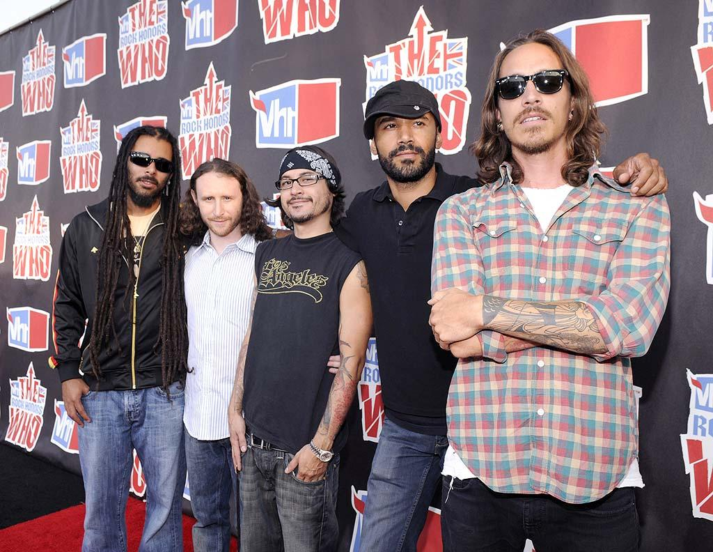 "Incubus clearly didn't bother to dress up for the occasion. Kevin Mazur/<a href=""http://www.wireimage.com"" target=""new"">WireImage.com</a> - July 12, 2008"
