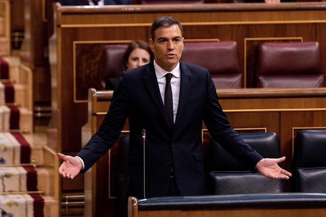 Pedro Sánchez en el Congreso (Alberto Di Lolli/AFP via Getty Images)