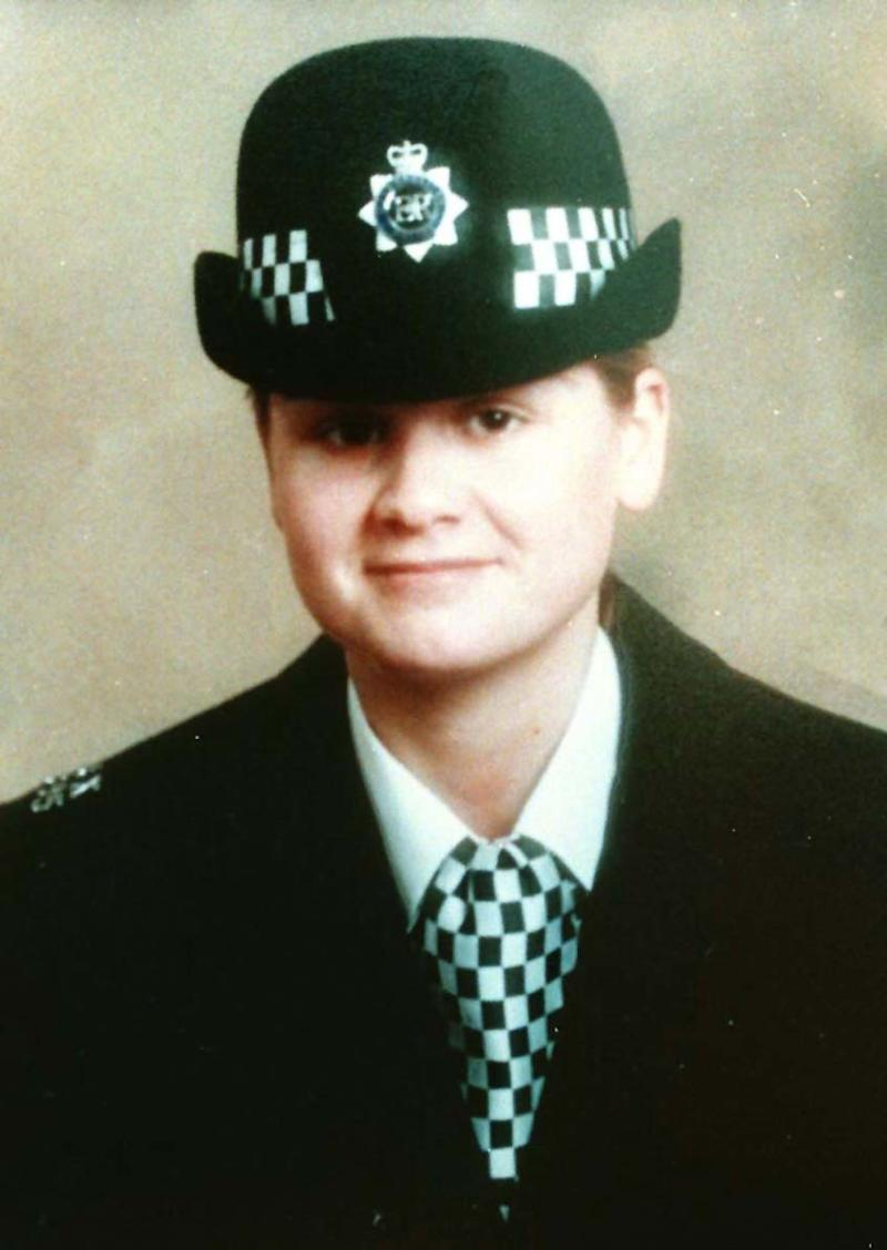 Undated collect photo of police officer Nina Mackay, who was stabbed to death as she went to arrest Madgi Elgizouli at a flat in east London. Elgizouli charged with her murder 26/10/97. Elgizouli pleads quilty 17/04/98. Inquiry unveiled 19/04/99. * The findings of an inquiry into the care of paranoid schizophrenic Magdi Elgizouli will be unveiled (19/04/99). A team report led by former social services director Ken Dixon will deliver its verdict on the treatment of Elgizouli, a former 'care in the comunity' patient. 08/1/00: The Commissioner of the Metropolitan Police Force, Sir John Stevens awarded posthumously the Commissioner's High Commendation for bravery to the wPC at New Scotland Yard, London.
