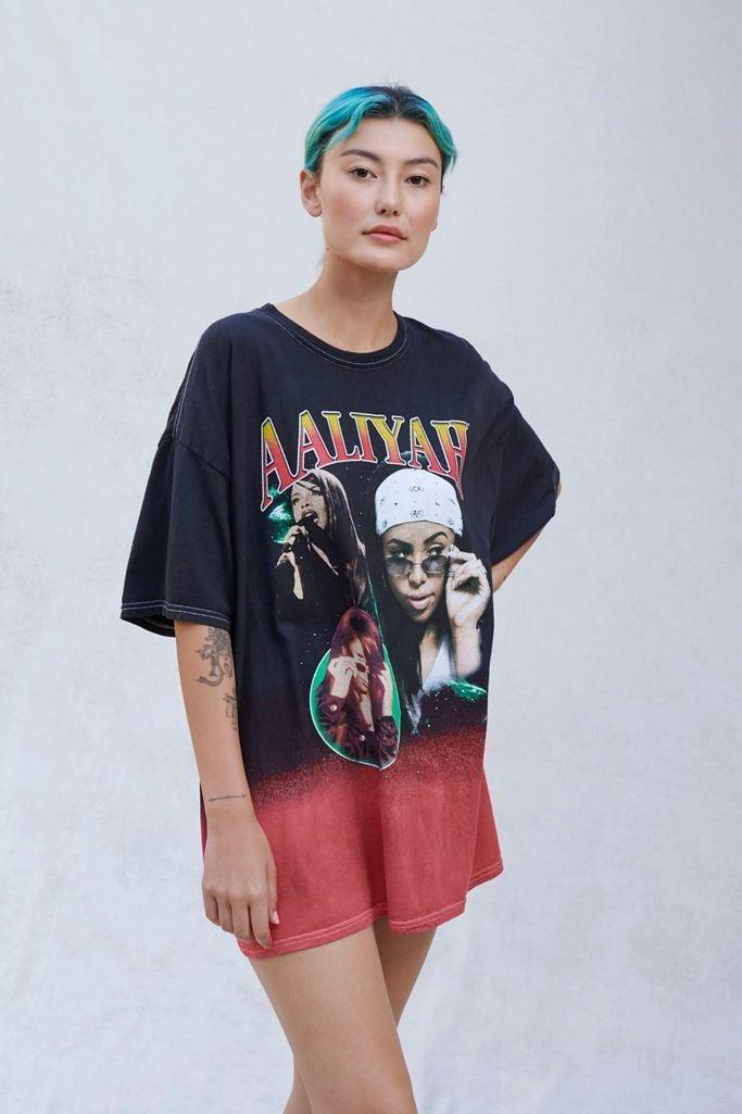 """<p>This <span>Aaliyah Ombre T-Shirt Dress</span> ($39) is perfect for a friend who memorized the dance moves to """"We Need a Resolution."""" </p>"""