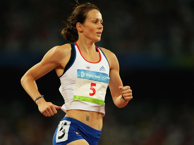 Kelly Sotherton at the 2008 Games: Getty