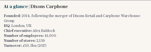 At a glance | Dixons Carphone