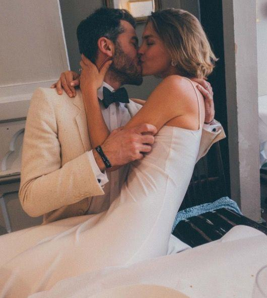 <p>The pair celebrated the nuptials at Marylebone eatery Hardy's, surrounded by family and friends, eight months after announcing their engagements. </p>