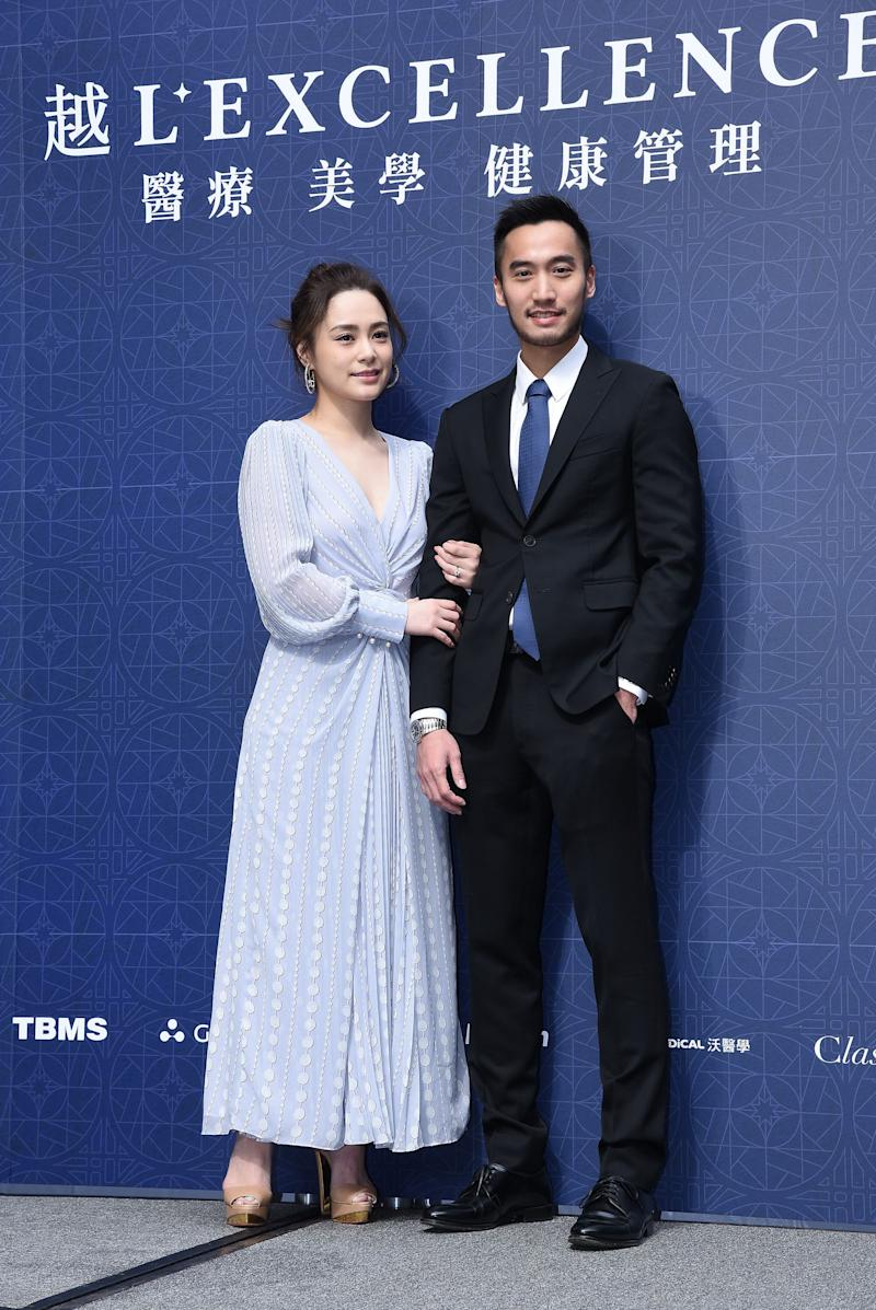 TAIWAN, CHINA - DECEMBER 09: (CHINA MAINLAND OUT)Gillian Chung attended the opening ceremony of a medical cosmetology clinic to support her husband Michael Lai on 09 December, 2019 in Taipei,Taiwan,China.(Photo by TPG/Getty Images)