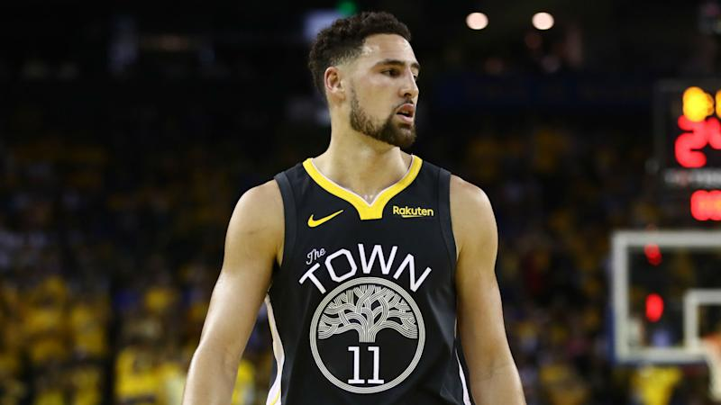 Klay Thompson upbeat over ACL recovery, but staying patient