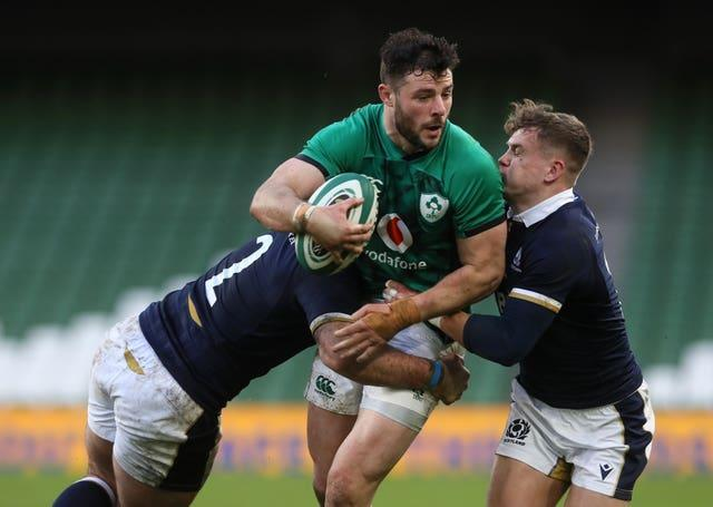 Ireland centre Robbie Henshaw will win his 50th international cap in Rome