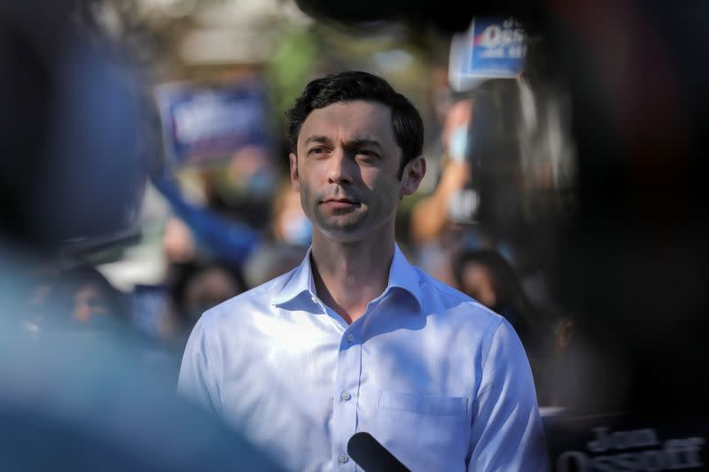 Democratic U.S. Senate candidate Jon Ossoff speaks at a news conference after the election in Atlanta