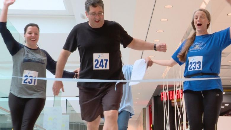Stair climbers tackle Edmonton's tallest skyscrapers for prostate cancer research