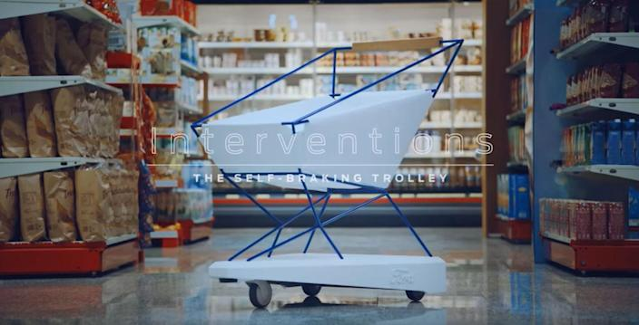 Ford have invented the self-braking trolley to help prevent accidents [Photo: Ford]